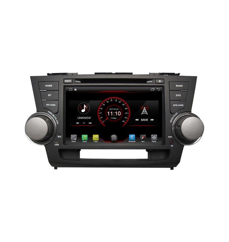 Autoradio GPS Android 6.1 Toyota Highlander de 2008 à 2013