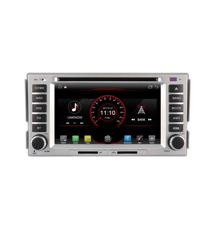 Autoradio GPS Android 6.1 SIM/UIM 4G/Wifi Hyundai Santa Fe de 2009 à 2012