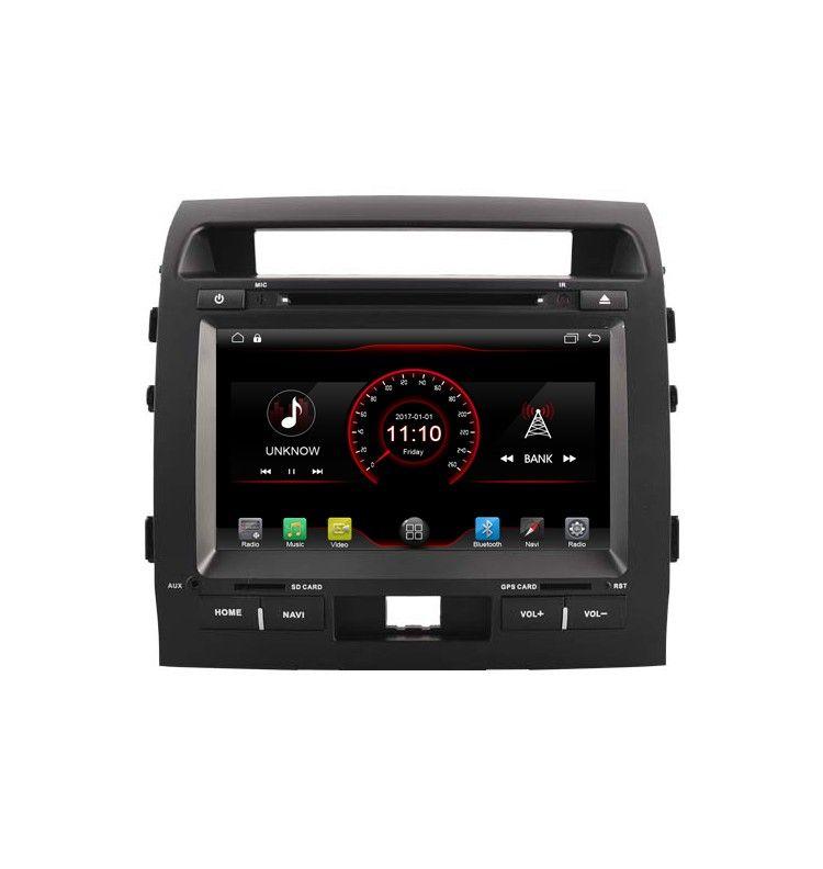 Autoradio Android GPS Bluetooth Multimédia intégré Toyota Land Cruiser 200 de 2007 à 2013
