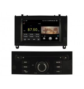 Autoradio Noir Android 8.1 Navigation GPS, Bluetooth Peugeot 407