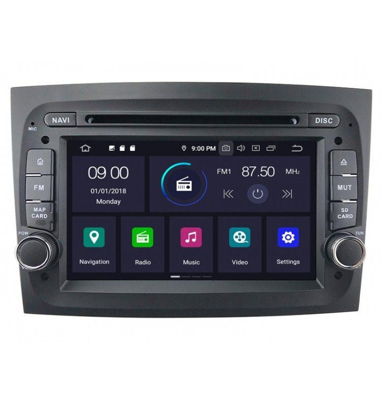 Autoradio Android 9.0 GPS, Bluetooth intégré Fiat Doblo depuis 2015