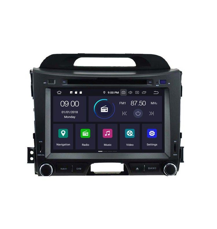 Autoradio GPS Android 9.0 Android Kia Sportage de 2010 à 2016