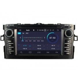 Autoradio GPS Android 9.0 Toyota Auris de 2008 à 2012