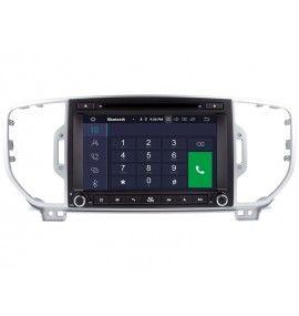 Autoradio GPS Bluetooth Android 9.0 Multimédia intégré Kia Sportage depuis 2016