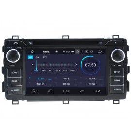 Autoradio Android 9.0 Navigation GPS, Bluetooth et MultiMedia Toyota Auris depuis 2013