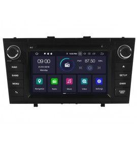 Autoradio GPS Android 9.0 Bluetooth Multimédia intégré Toyota Avensis de 11/2008 à 2013