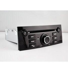 Autoradio Noir Android 9.0 Navigation GPS, Bluetooth Peugeot 407