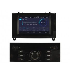 Autoradio Noir Android 9.0 Navigation GPS, Bluetooth Peugeot 407