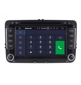 Autoradio GPS Android 9.0 Volkswagen Golf 5 6, passat, Beetle, Eos Touran T5, Tiguan, Polo, Caddy