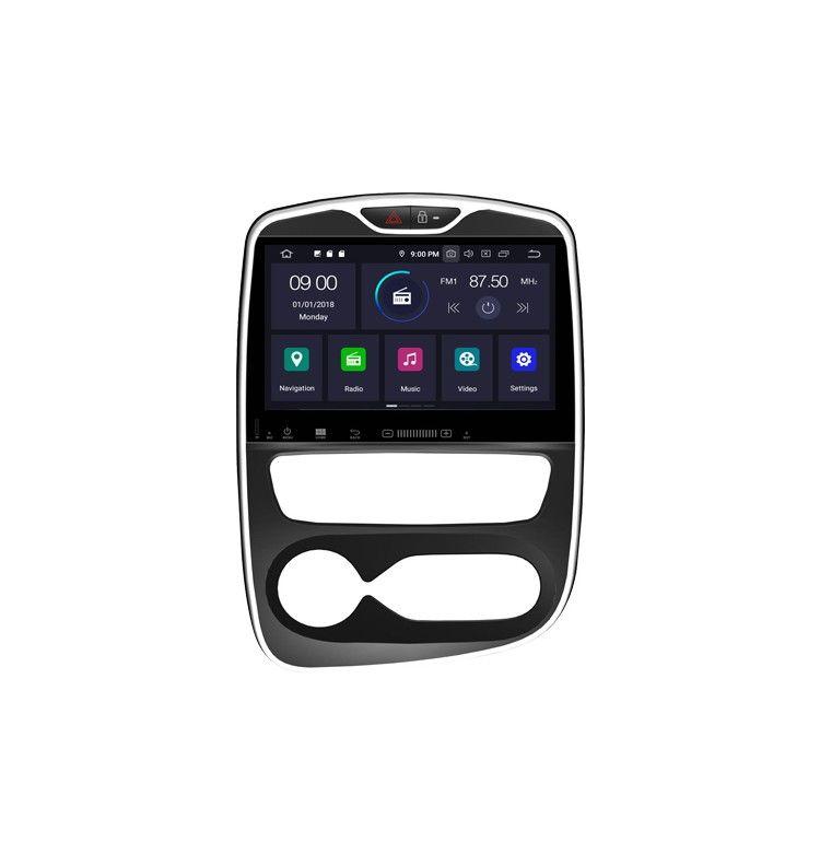 Autoradio GPS Android 9.0 Renault Clio 2017 à 2019