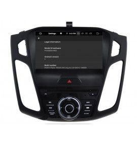 Autoradio android 9.0 GPS Bluetooth Multimédia intégré Ford Focus à partir de 2015