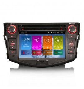 Autoradio Android 10 GPS Bluetooth Multimédia intégré Toyota RAV4 de 2006 à 2012