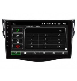 "Autoradio 9"" Android 10 GPS Bluetooth Multimédia intégré Toyota RAV4 2006 à 2012"