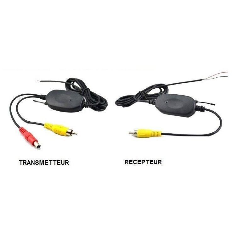 Système sans fil (émetteur/récepteur) pour caméra de recul, branchement RCA.